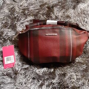 RAMPAGE WAIST PACK BELT BAG PLAID RED & BLACK